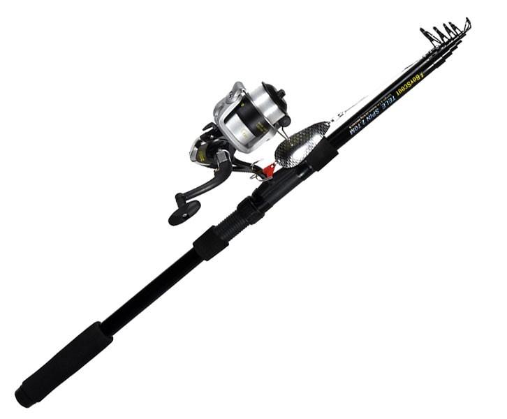 Набор для рыбалки BOYSCOUT (Спиннинг 2,7 м, катушка с леской, 4 блесны) 61802