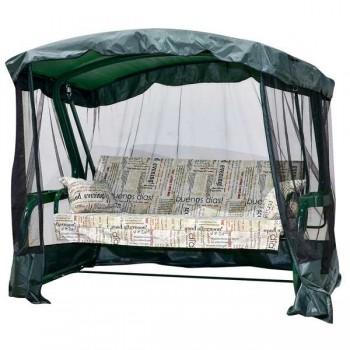 Садовые качели Мадрид+ с антимоскитной сеткой, зеленый