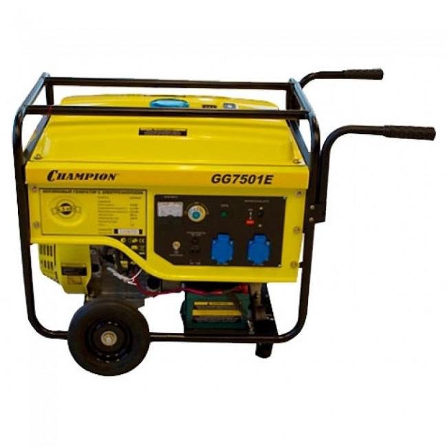 Генератор бензиновый CHAMPION GG 7501E