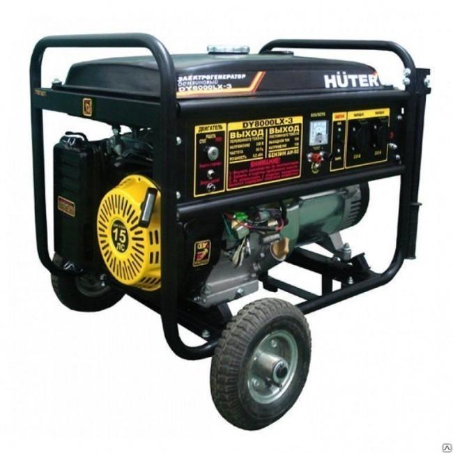 Генератор бензиновый HUTER DY 8000 LX-3 (АКБ приобретается отдельно) 64/1/28