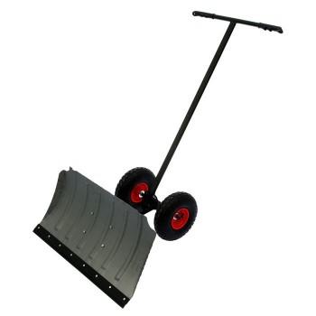 Снегоуборщик ручной на больших колесах алюминиевый, толщ. 2,0 мм, 750*430 мм, с регулировкой АВ+