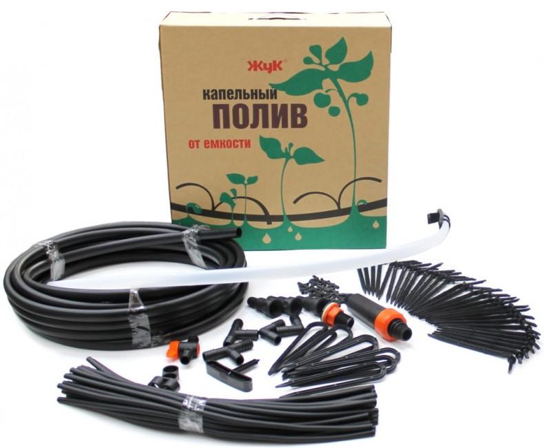 Капельный полив от емкости ЖУК Автомат с таймером, на 30 растений СТ-5 0810410