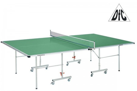 Теннисный стол для улицы DFC Tornado 4 мм всепогодный, складной на колесах, с сеткой, зеленый S600G