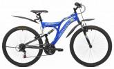 Велосипед MAVERICK 26' двухподвес, S 18 синий-черный, 21 ск.