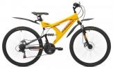 Велосипед MAVERICK 26' двухподвес, S 15 диск, желтый-черный, 21 ск., 18,5'