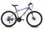 Велосипед MAVERICK 26' хардтейл, рама алюминий, Tank X 23 диск, голубой-белый матов., 21ск.