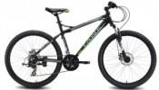 Велосипед MAVERICK 26' хардтейл, рама алюминий, Tank X 31 диск, черный-зеленый матов., 21ск.