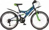 Велосипед STINGER 24' двухподвес, HIGHLANDER 100 V синий  24 SFV.HILAND 1.16 BL 7 (17-К)