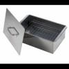 Коптильня Кедр плюс двухъярусная малая 420*270*175мм, сталь 0,8мм К2-0,8