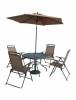 Комплект мебели со складным зонтом БЛ TJF-T007-BG