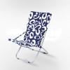 Кресло складное Белла CO-134A голубое