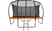 Батут DFC KENGOO II 12 футов-366 см, с внутренней сеткой, лестница, оранж./черн. 12FT-BAS-BO (из 2к)