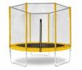 Батут Trampoline 8 диаметр 2,4 м, с внешней сеткой, желтый