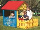 Игровой домик DOLU 151*104*125 см с забором 3013