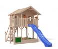 Деревянный детский домик для дачи Бормио XL на сваях, НЕ окрашенный
