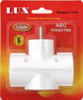Тройник сетевой LUX T3-E  250B  16A с з/к белый