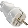 Вилка электрическая прямая с заземлением FIT 16А, 250В, белая 83311