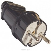 Вилка электрическая прямая с заземлением FIT 16А, 250В, черная 83312