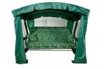 Садовые качели LETOLUX Мадрид PREMIUM SELECTION 180см, ф 51мм, подголовник+АМС, зеленый ЛЛКЧ 06G