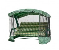 Садовые качели LETOLUX LUXEMBOURG 200 см, ф 60 мм подголовник+антимоскитная сетка, зеленый ЛЛКЧ 11G