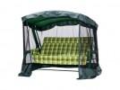 Садовые качели LETOLUX Сакура PREMIUM 180 см, ф 60 мм, подголовник+АМС, зеленый ЛЛКЧ 09G