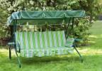 Садовые качели OLSA Люкс-2 зеленый (с905)