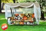 Садовые качели OLSA Сиена с антимоскитной сеткой, графитовый (с 903)