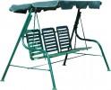 Садовые качели OLSA Стандарт НОВА пластиковое сиденье, зеленый (с 924)