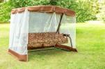 Садовые качели OLSA Турин с антимоскитной сеткой, коричневый (с 681)