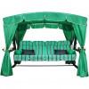 Садовые качели Arno-Werk  ЭДЕМ ЛЮКС 76 слон. кость/зеленый, 4-х мест., ф 76мм, +АМС, до 500кг