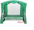 Садовые качели Arno-Werk  ОАЗИС ЛЮКС серо-зел/зеленый, 3-х мест., ф 51мм, +АМС, до 300кг (ПРОМО 2020