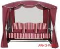 Садовые качели Arno-Werk  ОАЗИС ЛЮКС серо-зел/бордо, 3-х мест., ф 51 мм, +АМС, до 300кг (ПРОМО 2020)