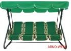 Садовые качели Arno-Werk  ОАЗИС СТАНДАРТ PLUS зеленые, 4-х местные, ф 51 мм, до 350 кг