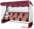 Садовые качели Arno-Werk  ДЕФА ЛЮСИ бордо/бордо, 4-х местные, ф 63 мм, + АМС, до 400 кг