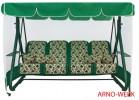 Садовые качели Arno-Werk  ДЕФА ЛЮСИ зеленый/зеленый, 4-х местные, ф 63 мм, + АМС, до 400 кг