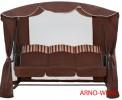 Садовые качели Arno-Werk  РАНДЕВУ ЛЮКС шоколад, 3-х местные, ф 40 мм, + АМС, до 300 кг