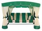 Садовые качели Arno-Werk  ЭДЕМ ЛЮКС 76 зеленый/зеленый, 4-х мест., ф 76мм, +АМС, до 500кг