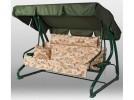 Садовые качели уДачная Мебель Капри с подголовником, зеленые A23G