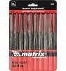 Надфили MATRIX 160*4 мм, обрезиненные рукоятки, 10 шт. 15818