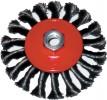 Корщетка-колесо для УШМ FIT 125мм витая с наклоном гайка М 14 39116