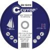 Диск отрезной по металлу и нержавеющей стали Cutop Profi T41-125*1,0*22,2 мм 39983