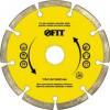 Круг алмазный для сухого реза FIT 125мм отрезной 37463