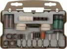 Набор корщетки, шарошки для УШМ FIT 64шт., в чемоданчике 36493
