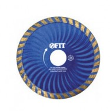 Круг отрезной для особо прочных материалов FIT 115мм, алмазный, турбо волна 37482