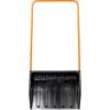 Скрепер для уборки снега пластик Cycle Стандарт Барин 700*530*150*1450 мм, мет.планка 6378-00