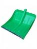 Лопата снеговая пластик Метелица 430*440 мм, с оцинков. накладкой, без черенка, цветной АВ+