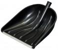 Лопата снеговая пластик Купец 410*460 мм, с накладкой, с деревянным черенком АВ+