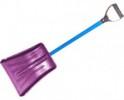 Лопата для снега автомобильная пластик 365*250 мм, с алюмин. планкой, алюм. черенок, Y-руч., цв. АВ+