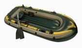 Лодка INTEX Морской сокол 400 сет. 338*127*50см, 370 кг весла,насос  руч. 68351 (17-З)