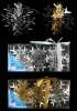 Снежинка 8,5см*3шт., зеркальная серия, 2цв., в ПВХ с лентой Е 91065